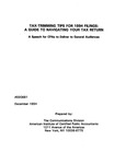 Tax-trimming tips for 1994 filings: A Guide to navigating your tax return: a Speech for CPAs to deliver to general audiences
