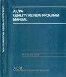 AICPA quality review program manual as of January 1 1992