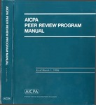 AICPA peer review program manual, as of March 1, 1996