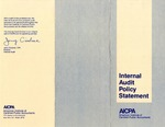 Internal Audit Policy Statement by American Institute of Certified Public Accountants. Internal Audit Division and Jerry Cicalese