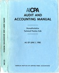AICPA audit and accounting manual : nonauthoritative technical practice aids, as of June 1, 1980