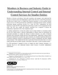 Members in Business and Industry Guide to Understanding Internal Control and Internal Control Services for Smaller Entities by American Institute of Certified Public Accountants (AICPA)