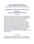 State Tax Return Preparation Guide For All States' INDIVIDUAL State Tax Returns Common problems and unique tax issues for each state