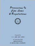 Provisions in CPA laws & regulations