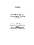 ReSource: AICPA's Accounting and Auditing Literature