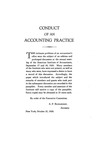Conduct of an Accounting Practice