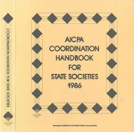 AICPA coordination handbook for state societies, 1986