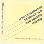AICPA coordination handbook for state societies, 1987-1988