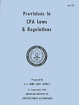 Provisions in CPA Laws & Regulation