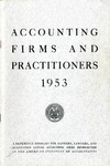 Accounting Firms and Practitioners 1953