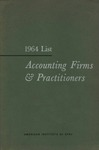 Accounting Firms & Practitioners, 1964 List