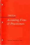 Accounting Firms & Practitioners, 1966 List