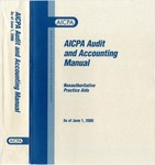AICPA audit and accounting manual : nonauthoritative technical practice aids, as of June 1, 2000