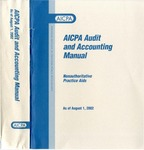 AICPA audit and accounting manual : nonauthoritative technical practice aids, as of August 1, 2002