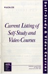 Current Listing of Self-Study and Video Courses