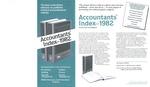 Accountants' Index - 1982 [brochure]