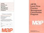 AICPA local firm practice management consultation program: MAP by American Institute of Certified Public Accountants (AICPA)