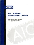 1997 Annual Reviewers' Letter: Informational Update for Peer reviewers