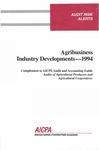 Agribusiness industry developments - 1994; Audit risk alerts