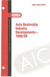 Auto dealership industry developments - 1998/99