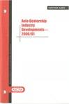 Auto dealership industry developments - 2000/01; Audit risk alerts