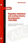 Depository institutions and lending industry developments - 1999-2000