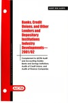 Banks, credit unions, and other lenders and depository institutions industry developments - 2001-02; Audit risk alerts