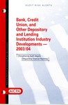 Banks, credit unions, and other lenders and depository institutions industry developments - 2003-04; Audit risk alerts