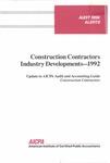 Construction contractors industry developments - 1992