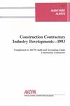 Construction contractors industry developments - 1993