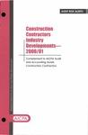 Construction contractors industry developments - 2000/01
