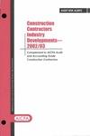 Construction contractors industry developments - 2002/03