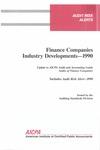 Finance companies industry developments - 1990