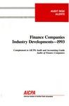 Finance companies industry developments - 1993; Audit risk alerts