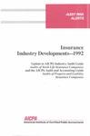 Insurance industry developments - 1992