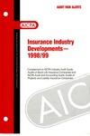 Insurance industry developments - 1998/99