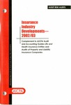 Insurance industry developments - 2002/03