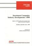 Investment companies industry developments, 1990; Audit risk alerts