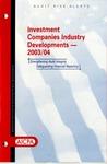 Investment companies industry developments, 2003/04; Audit risk alerts