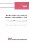 Not-for-profit organizations industry developments - 1993