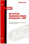 Not-for-profit organizations industry developments - 1998; Audit risk alerts