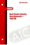 Real estate industry developments - 1997/98; Audit risk alerts