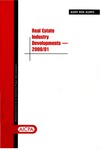 Real estate industry developments - 2000/01