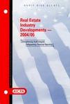 Real estate industry developments - 2004/05; Audit risk alerts