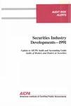 Securities industry developments - 1991; Audit risk alerts