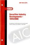 Securities industry developments - 1999/2000