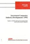 Investment companies industry developments, 1992; Audit risk alerts
