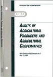 Audits of agricultural producers and agricultural cooperatives with conforming changes as of May 1, 2000