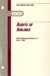 Audits of airlines with conforming changes as of May 1, 1998