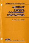 Audits of federal government contractors as of December 31, 1990; Audit and accounting guide:
